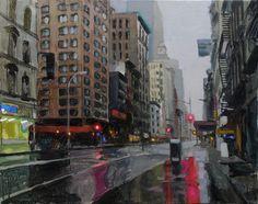 Laurent Dauptain, huile sur toile, Près de HD 92 X 73 cm