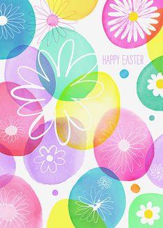 Margaret Berg Art: Easter Eggs with Daisies