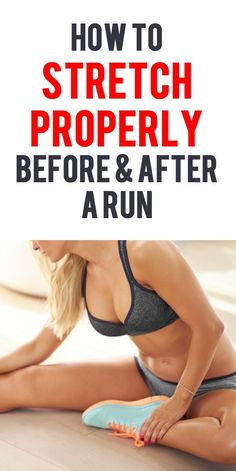 Runner's should stretch before a run to elongate the muscles, improve…