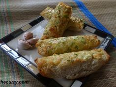 Recipe Garlic cheese bread, by Spiceupthecurry - Petitchef