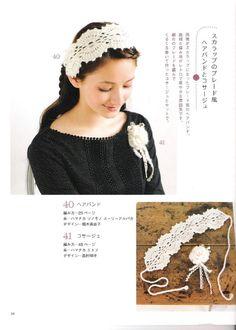 Artesanato diversão e prazer: Lenços, tiaras, headband , tic tac e elasticos de croche com gráficos