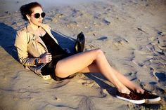 Chiara ferragni at Santa Monica beach.....the blonde salad