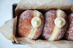 Kublanka vaří doma - Koblihy St John Bakery Gimme Some Sugar, Different Types Of Bread, Home Baking, Doughnut, Sweet Recipes, Sweet Tooth, Bakery, Treats, Buns