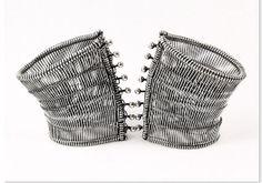 """Cuffs"" Pair of Bracelets 925S. 2004"