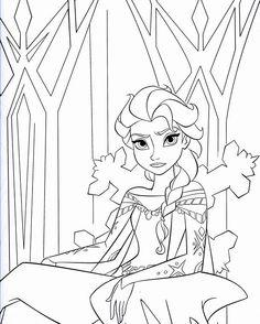 Coloriage: Thème La Reine des neiges