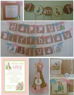 Peter Rabbit 1st Birthday Supreme Package Beatrix Potter bunny - http://www.babyshower-decorations.com/peter-rabbit-1st-birthday-supreme-package-beatrix-potter-bunny/