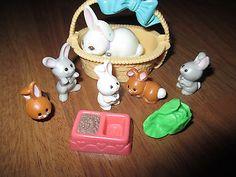 Vintage My Littlest Petshop Bunny Garden Mommy 5 Bunnies