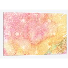 East Urban Home Mandala Series: Pink Lemonade Graphic Art on Wrapped Canvas Size: