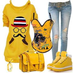 Mustard Yellow Sweater, Sweaters, Polyvore, Outfits, Clothes, Image, Fantasy, Style, Fun