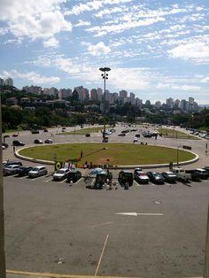 Vista da Praça Charles Miller. Onde está localizado o Museu do Futebol em São Paulo, no Estádio do Pacaembu.