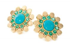 Cara Turquoise and Emerald Ear Stud