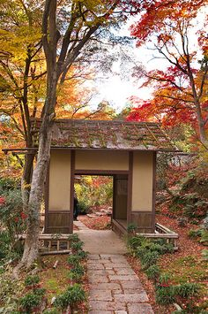 Jikishi-an, Kyoto, Japan that's in japan I just want to get on a plane and go right know.
