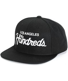Update your street style with a white Los Angeles The Hundreds script  embroidered at the front 75cbade429eb