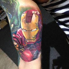 Iron Man Tattoo by Korky at Holy Grail Tattoo Studio