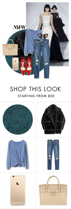 """""""Sans titre #606"""" by elybrownie ❤ liked on Polyvore featuring Oriental Weavers, H&M, Gap and Furla"""