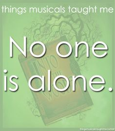 No one is alone. (Into the Woods)