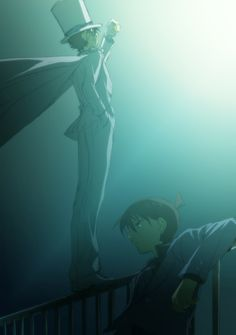 Kaito Kid and Shinichi Manga Detective Conan, Detective Conan Shinichi, Kaito Kuroba, Kaito Kid, Numbers For Kids, Kudo Shinichi, Magic Kaito, Case Closed, Anime Eyes