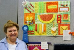 "Are you familiar with a ""fidget quilt?"" Harriett Whitlock, a member of the Swamp Fox Quilters' Guild, chose to prepare a fidget quilt for her entry in this . Quilting Projects, Sewing Projects, Quilting Tips, Machine Quilting, Sewing Ideas, Art Projects, Alzheimers Activities, Dementia Crafts, Sensory Blanket"