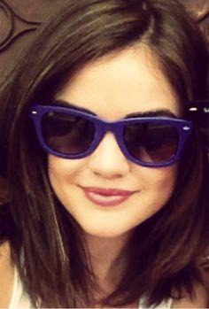 Lucy Hale- cute hair, cute sunglasses