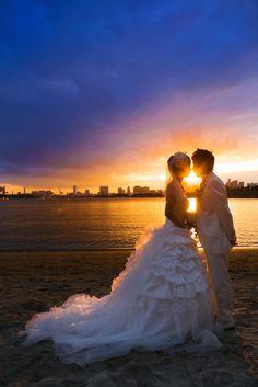 #夜景 #夕日 #フォトウェディング #wedding
