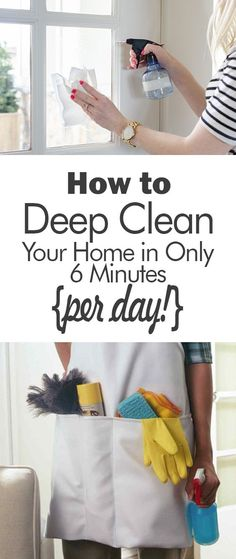 How to Deep Clean Your Home in Only 6 Minutes {per day!} - 101 Days of Organization| Clean Your Home, Fast Cleaning, Fast Cleaning Hacks, Cleaning Tips, Cleaning Hacks, Cleaning 101, Home Cleaning, Home Cleaning Hacks, DIY Home Cleaning Hacks, Popular Pin #HomeCleaningHacks #Cleaning101