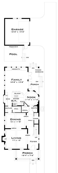 1000 ideas about narrow lot house plans on pinterest house plans floor plans and home plans - Narrow house plan paint ...