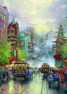 San Francisco Chinatown by Thomas Kinkade