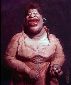 jazz and blues singer Ella Fitzgerald by wooden-horse via wittygraphy