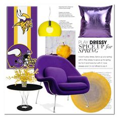 """purple & yellow # Homelava"" by homelava ❤ liked on Polyvore featuring interior, interiors, interior design, home, home decor, interior decorating, The Northwest Company, Modloft, Kartell and Rove Concepts"