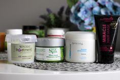 Maski nawilżające bez protein: 1. Maska kondycjonująca TCR Mineral Treatment 2. Natur Vital, aloesowa 3. Bioetika, aloesowa