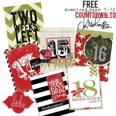 Free Christmas Journal Cards {set 2} from Heidi Swapp