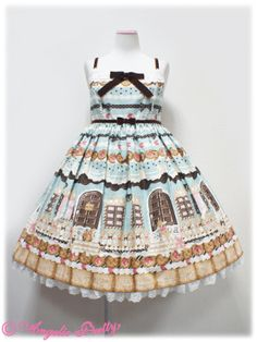 Angelic Pretty Sweet Cream House JSK With Collar /// ¥24,990 /// Bust: 92~114 cm Waist: 81~104cm Length: 85cm + 3cm lace