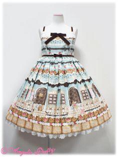 Angelic Pretty - Sweet Cream House JSK with Collar (2013) /// ¥24,990 /// Bust: 92~114 cm Waist: 81~104 cm Length: 85 cm + 3 cm lace