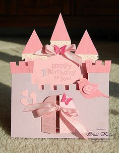 Love the castle card... maybe I could put paper doll princesses, prince, dragon, etc. inside ...