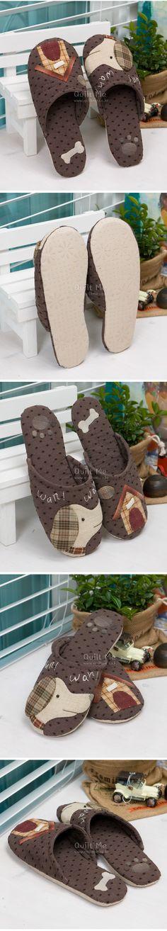 Edredón Americana - perros y zapatillas de casa (patrón);