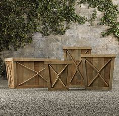 reclaimed wood & rope planters, restoration hardware