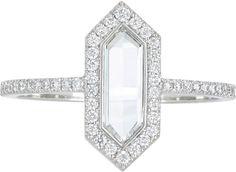 "Diamond & Platinum ""The Line"" Ring"