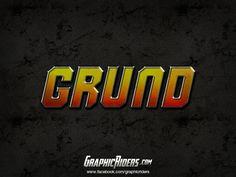 Action style – GRUND Free Photoshop, Layer Style, Portfolio, Logos, Logo