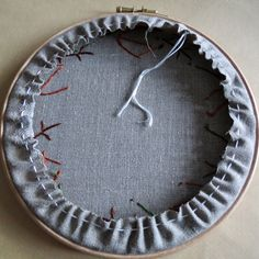 It's been a while since I shared an embroidery tutorial, but I've been asked a couple of times in the last week how I back my embroidery hoo...