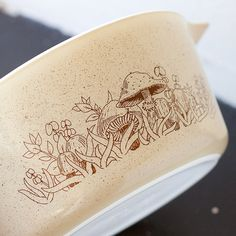 i have some of these - - Vintage Pyrex Forest Fancies mushrooms pattern