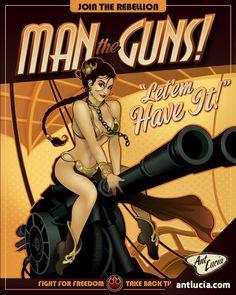 man-the-guns-princess-leia-starwars-propaganda-poster