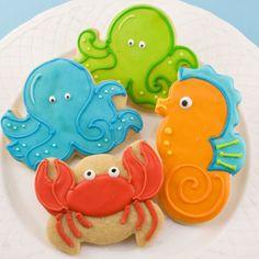 More very cute cookies #cookies #ocean