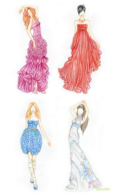 svetlana makarova draw, colored pencil sketch, croqui pose, color pencil, art, fashion croqui, design, fashion illustrations