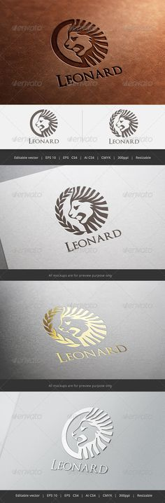Leonard Lion Logo — Vector EPS #Leonard #solid • Available here → https://graphicriver.net/item/leonard-lion-logo/5596891?ref=pxcr