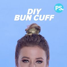 Wrapping a piece of hair around your bun is done, people. Now it's all about adorning your messy knot with some jewelry, which is why the bun cuff has flown off the shelves at places like Free People. We're all about a good hack though, and this one saves you some money. All you need is hot glue, a small scrunchie (throwback time!), and an inexpensive cuff. We picked up ours from Forever 21. Your hair will be decked out in no time!