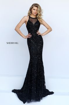 Sherri Hill Prom little black dress! Spring 2016 # 1959 www.thecastlepromandbridal.com Colors: black, gunmetal, jade, ruby, silver