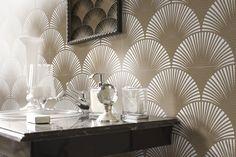 Art Deco Design, Tile Design, Design Bathroom, Master Bathroom, Bathroom Ideas, Art Deco Wallpaper, Home Bar Designs, Style Tile, Stone Mosaic