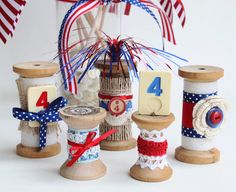 Fun 4th of July decorating and crafting for the 4th of July.Lynda @ http://somethingcreatedeveryday.blogspot.com