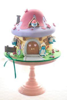 Smurfette's House Cake