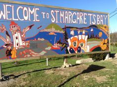 Located at the crossroads of St. Margaret's Bay  Road and the Peggy's Cove Road. Photo snapped by Deborah Susan Green. Mural created by a whole community effort from artist Andrea Redmond, organizer Fiona Ferguson, local students and businesses, Awesome Halifax...